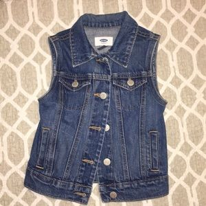 Girl's denim vest/jacket